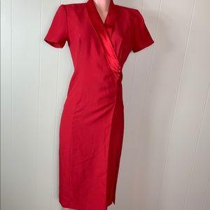 Mangy London vintage red dress size 4 petite